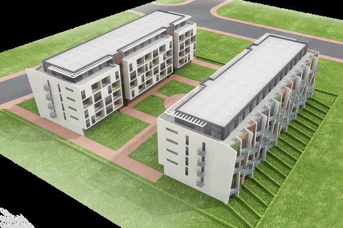 Многофамилни жилищни сгради - изглед отгоре